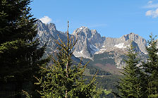 blue sky view wilder kaiser holiday house bambi